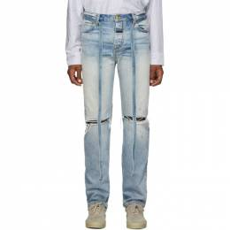 Fear Of God Blue Relaxed Jeans 192782M18600305GB