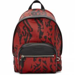 Neil Barrett Black and Red Chaotic Print Backpack 192368M16600301GB