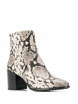 Tod's - snakeskin print ankle boots 83B6BO36THYC66595099
