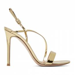 Gianvito Rossi Gold Manhattan Sandals 192090F12500205GB