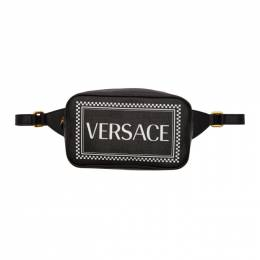 Versace Black 90s Vintage Logo Belt Bag 192404F04500901GB