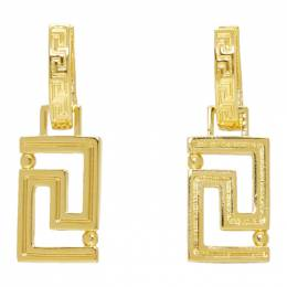 Versace Gold Empire Chain Earrings 192404F02203101GB
