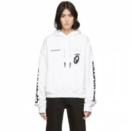 Off-White White Splitted Arrows Over Hoodie 192607F09700805GB