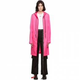 Off-White Pink Unfinished Raincoat 192607F06300302GB