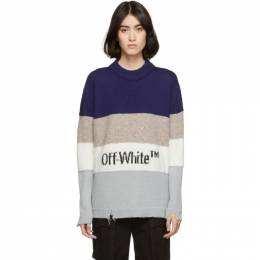 Off-White Blue OW Sweater 192607F09600302GB
