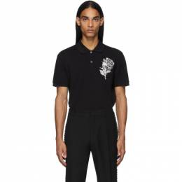 Alexander McQueen Black Embroidered Skull Polo 192259M21201006GB