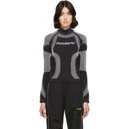 Misbhv SSENSE Exclusive Black and White Active Turtleneck 192937F09901404GB