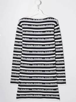 Balmain Kids - TEEN striped sweater dress 636LA356950535590000