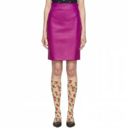 Gucci Pink Leather Pencil Skirt 192451F09000204GB