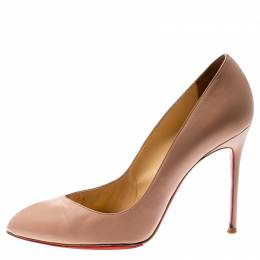 Christian Louboutin Beige Leather Corneille Pointed Toe Pumps Size 38 210140
