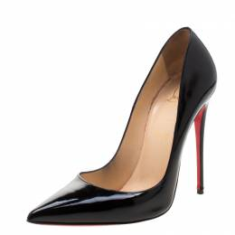Christian Louboutin Black Patent Leather So Kate Pumps Size 39.5 210271
