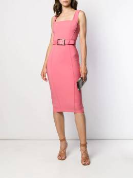 Elisabetta Franchi - belted fitted midi dress 6396E095069589000000