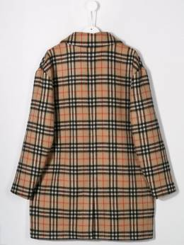 Burberry Kids - TEEN double-breasted check coat 65869599056300000000