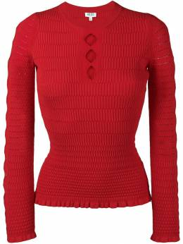Kenzo - cut-out fitted jumper 0TO56385093606989000