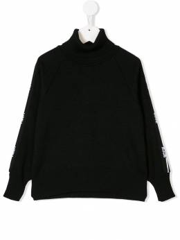 Msgm Kids - logo sleeve roll neck jumper 38993960533000000000