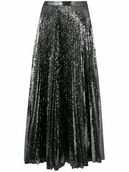 Marco De Vincenzo - pleated sequinned skirt 095A5DPF6QG590990050