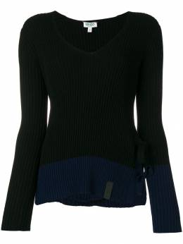 Kenzo - ribbed tie side slit sweater 0TO50880593638509000