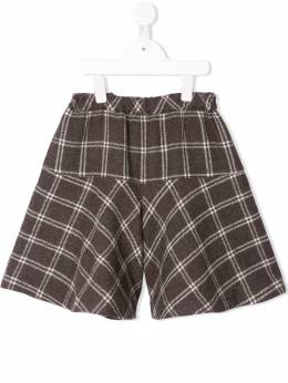 Familiar - check flared shorts 38693969556000000000