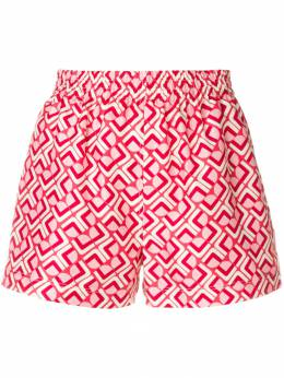 La Doublej - print fitted shorts 6666SIL669DOM6663908