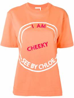 See By Chloé - футболка I Am Cheeky 99UJH939999339053000