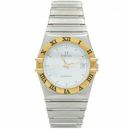 Omega White Yellow Gold& Steel Constellation Watch 35MM 210907