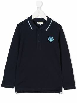 Kenzo Kids - Tiger patch polo shirt 95589300893300000000