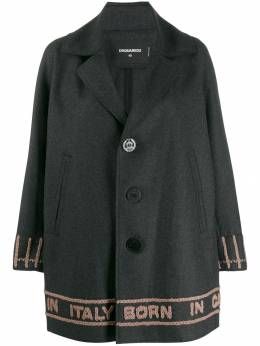 Dsquared2 - logo knit single breasted coat AA6090S5065595998638
