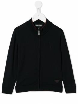 Emporio Armani Kids - funnel neck knitted jacket M555M6MZ950355990000