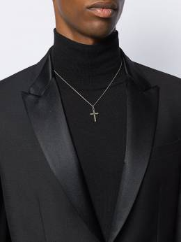 Saint Laurent - embellished cross pendant necklace 656Y6603950536990000