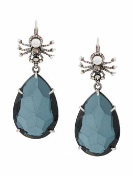 Alexander McQueen - spider and crystal pendant earring 069J966Y950666330000