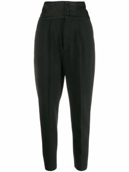 Dondup - high-rise tapered trousers 33TS6669DXXXMDD95069