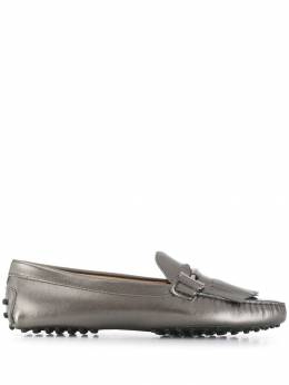 Tod's - fringed double T loafers 66G6BU66LOWB09695030