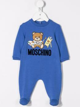 Moschino Kids - artist toy bear print pyjama and hat set 60ILDA95950509680000