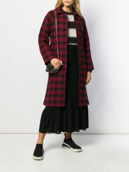 Red Valentino - belted checked coat CA9R559A950533860000
