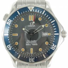 Omega Blue Stainless Steel Seamaster Professional 300M Date 2541.80 Men's Wristwatch 41MM 211391