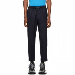 Kenzo Navy Wool Tapered Trousers 192387M19101407GB