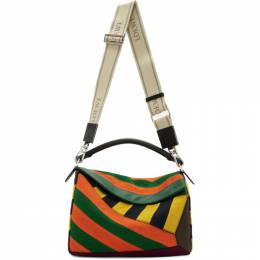 Loewe Multicolor Large Puzzle Rugby Bag 192677M17001801GB