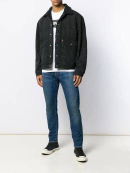 Levi's - monochrome faux-fur denim jacket 89950383850000000000