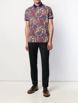 Etro - paisley patterned polo shirt 66556395065008000000