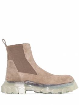 Rick Owens - Grey Tractor Beetle suede boots 9F589995953653000000