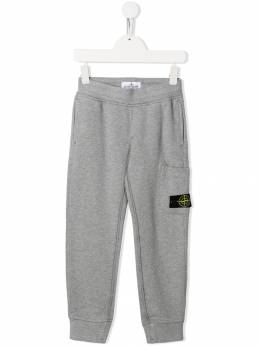Stone Island Junior - logo patch track pants 66685695089350000000