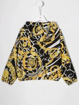 Young Versace - patterned hooded jacket 66669YA6603595066609