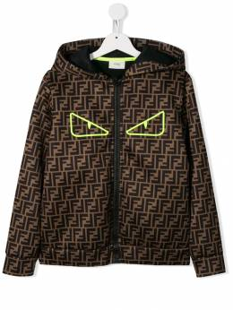 Fendi Kids - TEEN Bug Eyes monogram jacket 958A8LG9503939500000