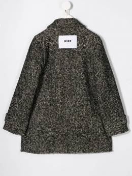 Msgm Kids - double-breasted herringbone coat 55595050006000000000