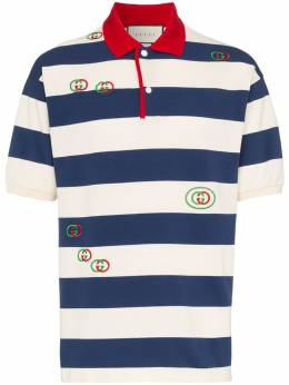 Gucci - striped embroidered polo shirt 936XJA6H956065990000