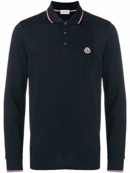 Moncler - long sleeve logo polo shirt 86668555693935368000