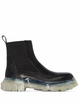 Rick Owens - black tractor beetle leather ankle boots 9F589995953656000000