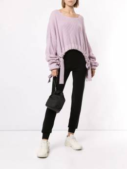 Live The Process - knitted high waisted trousers KNIT9593533000000000
