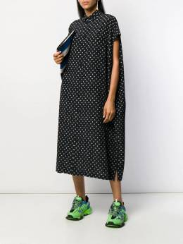 Balenciaga - BB logo print shirt dress 633TFLD0956396990000
