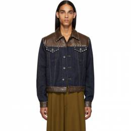 Dries Van Noten Blue and Brown Voste Jacket 192358M17700104GB